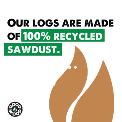 100% recycled sawdust bricks